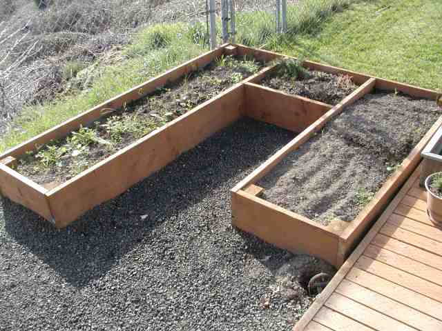 Curved Raised Beds