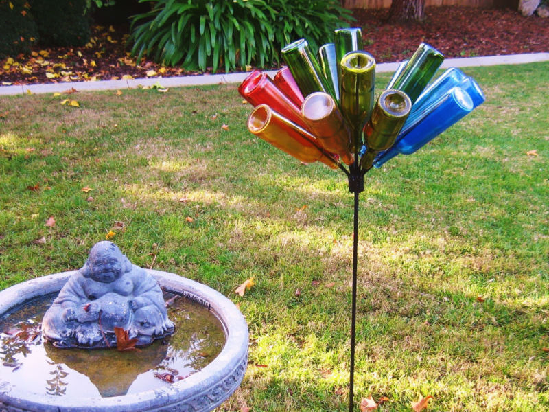 Outdoor Wine Bottle Tree