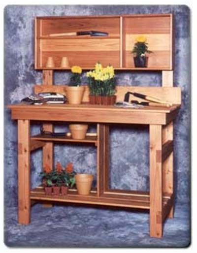 Potting Bench with Large Handy Upper Shelf