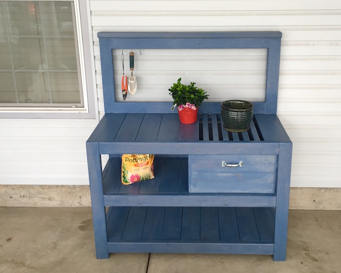 Potting Bench with a Drawer