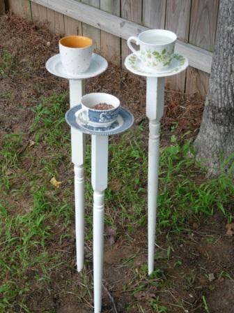 Tea Cup Bird Feeders
