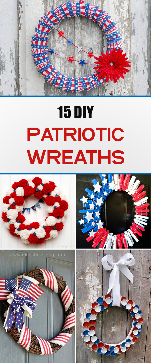 15 Creative DIY Patriotic Wreaths That Are Perfect for the 4th of July!