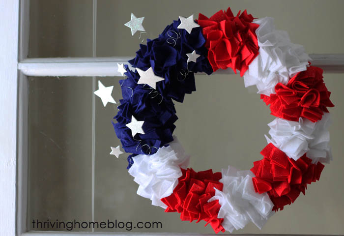 4th of July Felt Wreath
