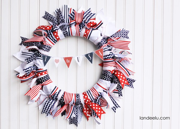 Red, White, and Blue Ribbon Wreath