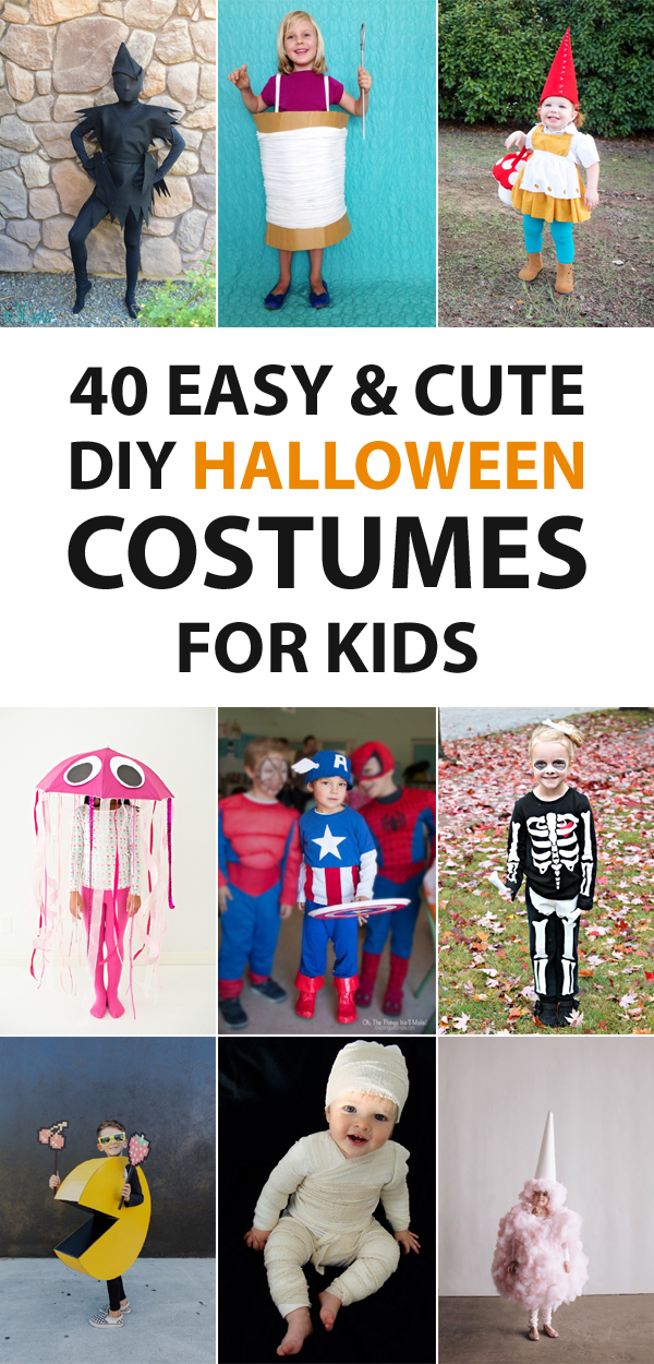 40 Easy and Cute Halloween Costume Ideas for Kids