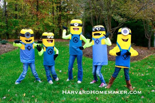 Easy No-Sew DIY Minion Costumes