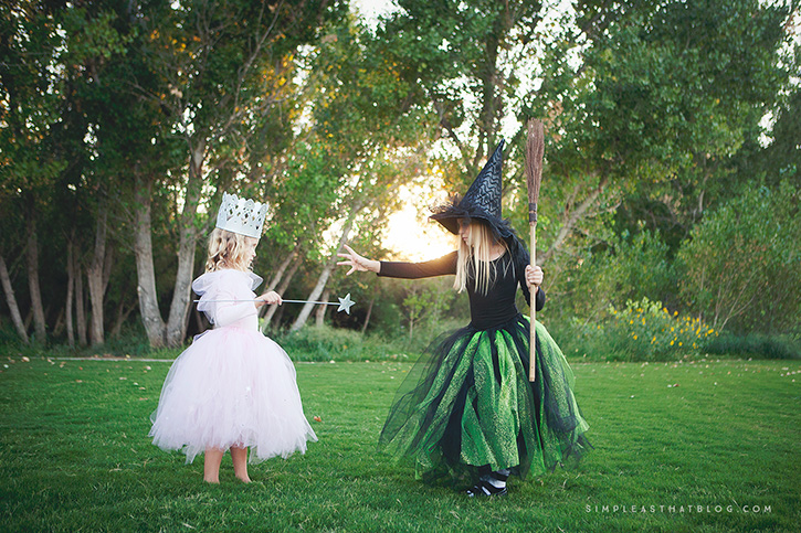 Glinda and Wicked Witch Costumes