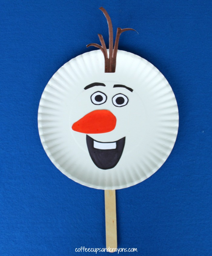 Frozen Olaf From Coffee Cups And Crayons Paper Plate Christmas Ornament
