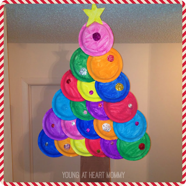 Painted Paper Plate Christmas Tree
