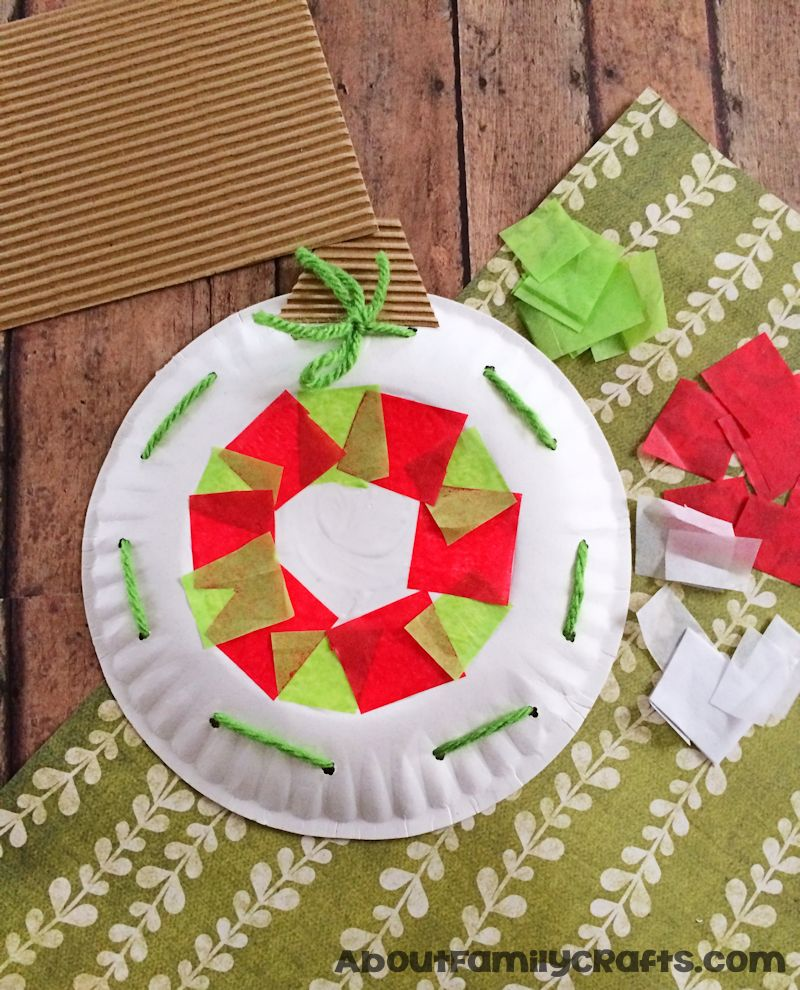 Paper Plate Christmas Ornament