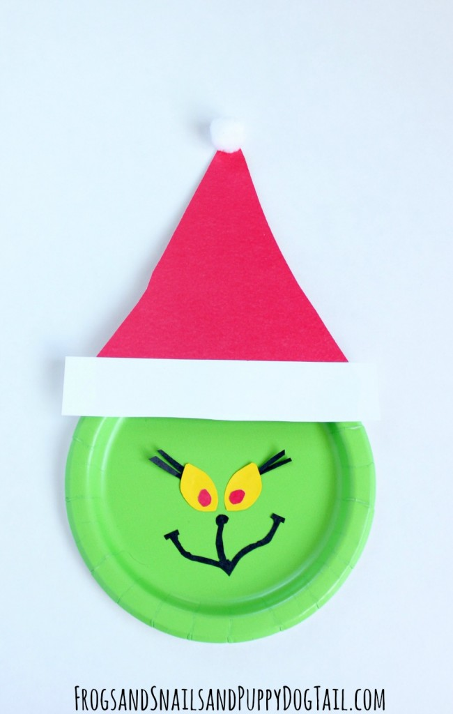 Paper Plate Grinch