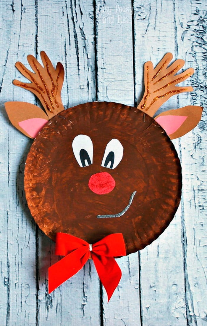 Paper Plate Reindeer