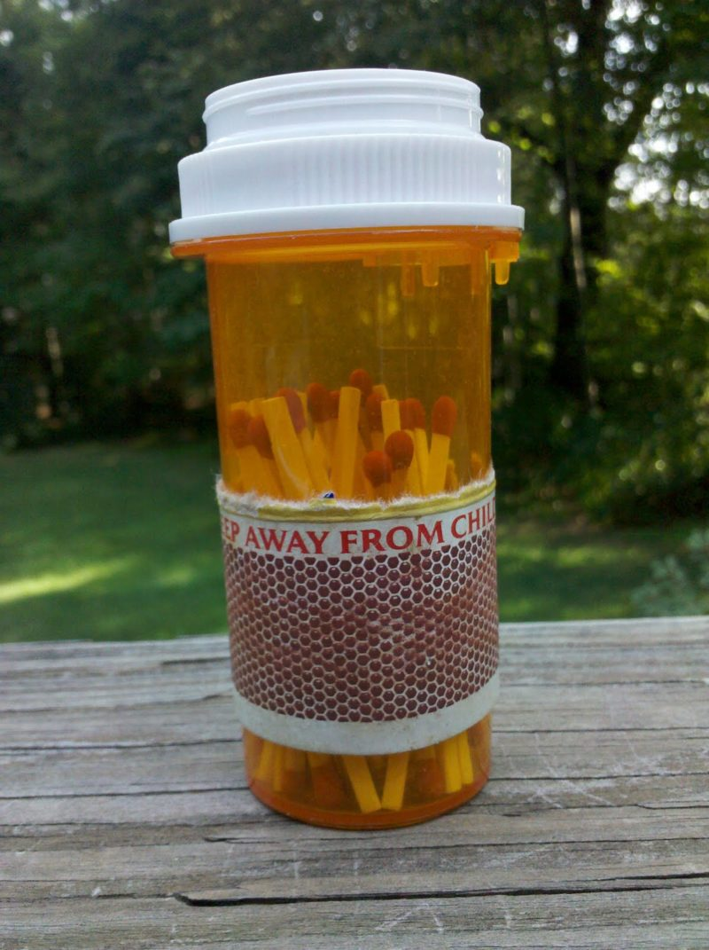 pill bottle match box