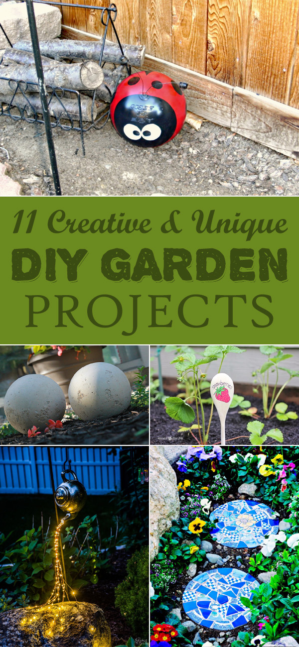 11 Creative and Unique DIY Garden Projects