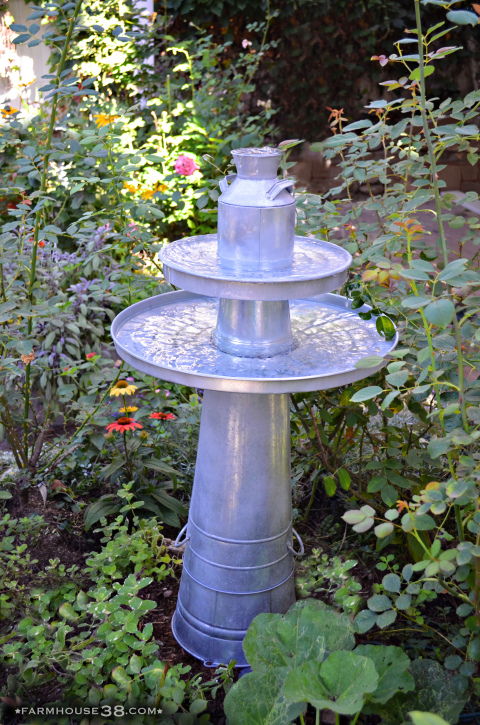 Galvanized Pedestal Fountain