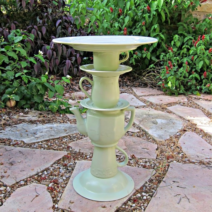 Teapot Bird Bath
