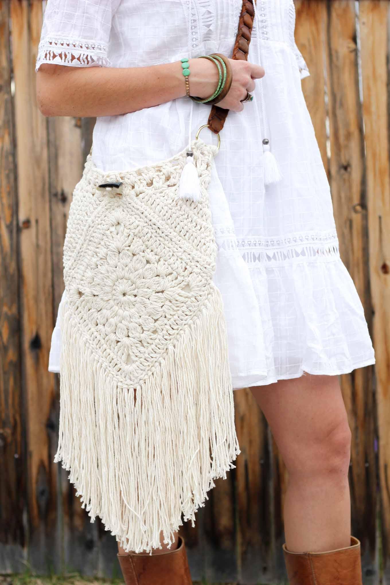 Boho Crochet Bag