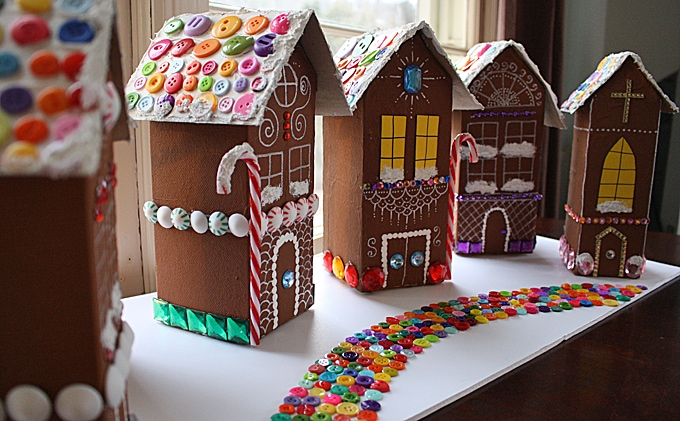 Milk Carton Holiday Houses