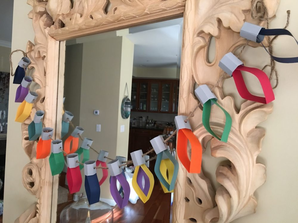 Paper Christmas lights garland