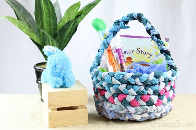 Braided Fabric Easter Basket