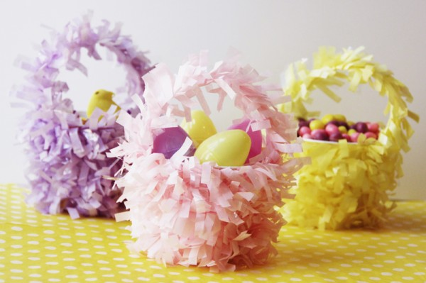 Mini Fringe Easter Baskets
