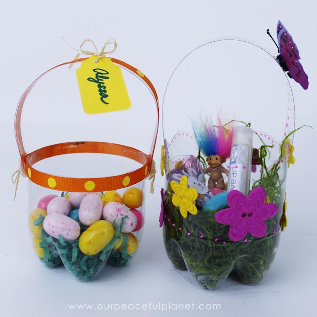 Plastic Soda Bottle Easter Baskets