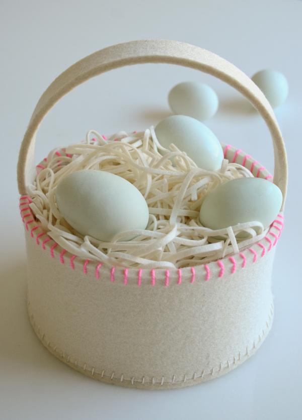 Simple Felt Easter Basket