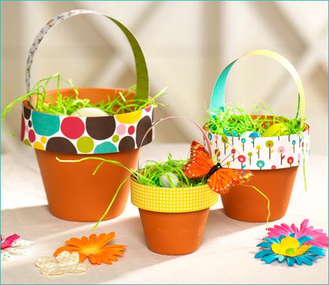 Terra Cotta Easter Baskets