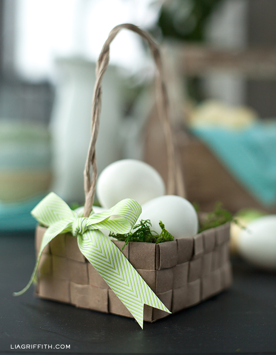 Upcycled Grocery Bag Easter Basket