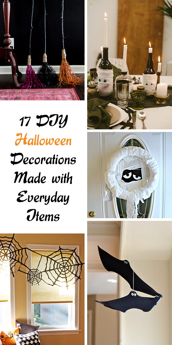 17 DIY Halloween Decorations Made with Everyday Items