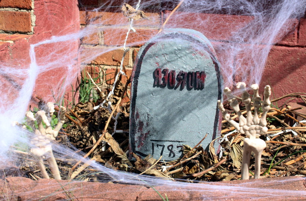 Cereal Box Halloween Tombstone
