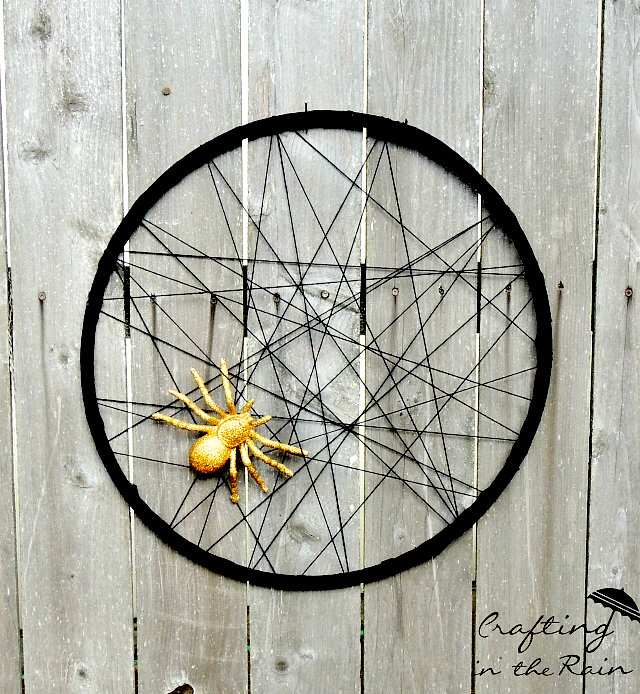 Glitter Spider and Hula Hoop Web
