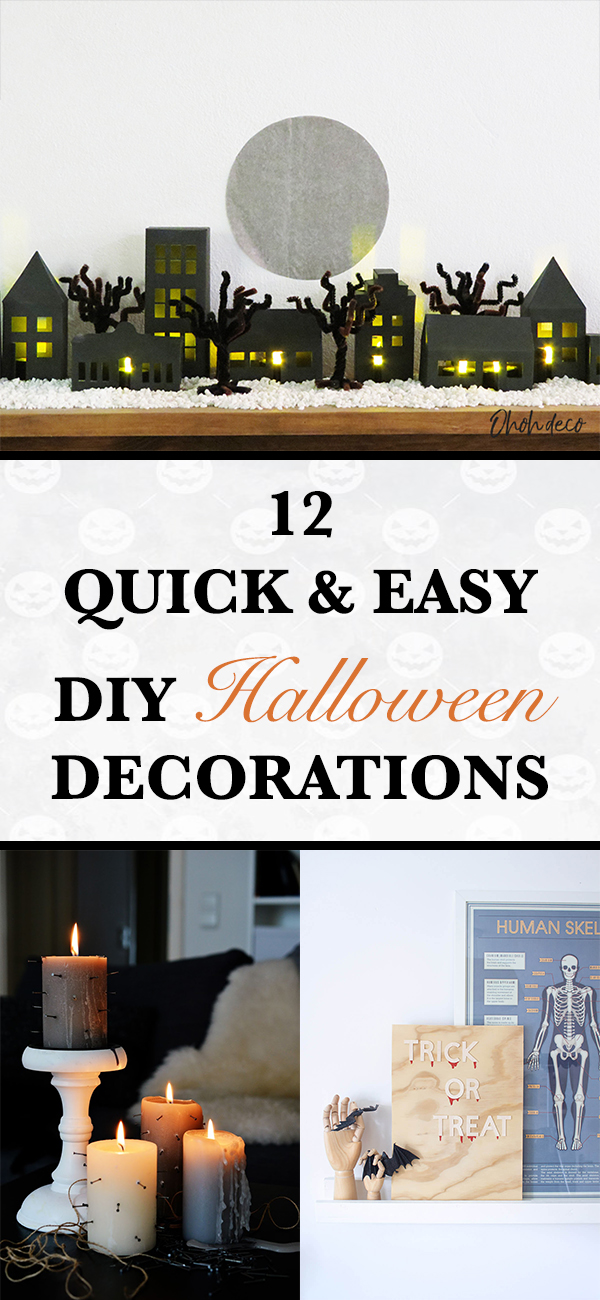 12 Quick and Easy DIY Halloween Decorations