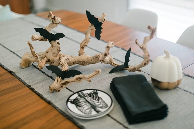 Bat Branch Halloween Centerpiece