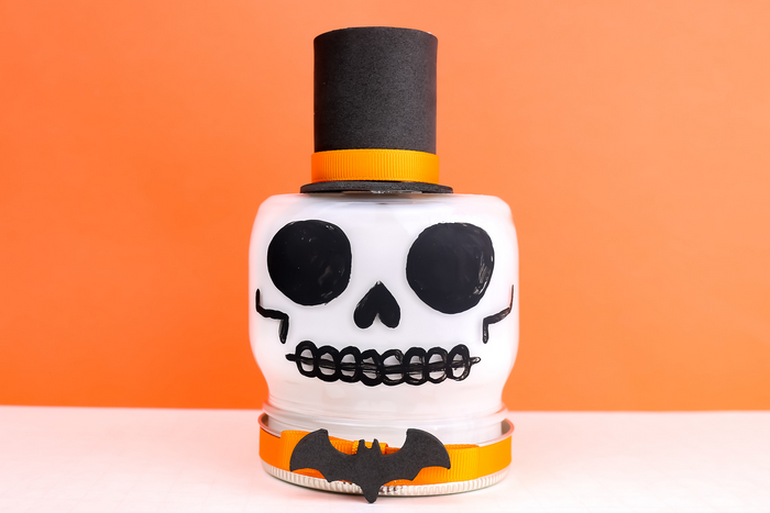Painted Skull Mason Jar