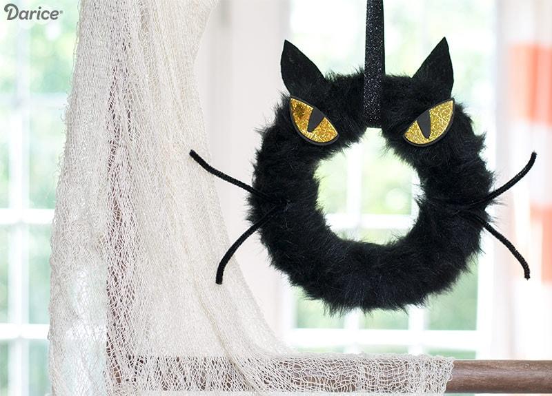 Spooky Cat Wreath