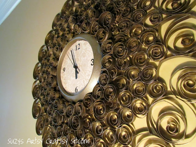 Faux Brass Wall Clock