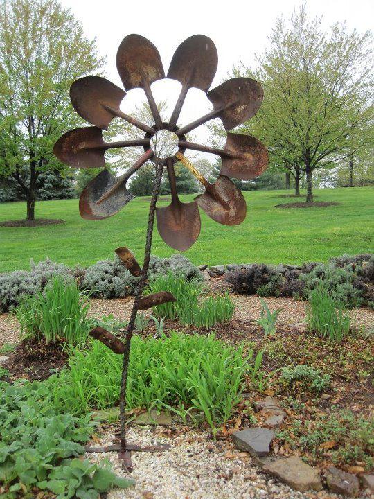 Rusty Shovel Flower