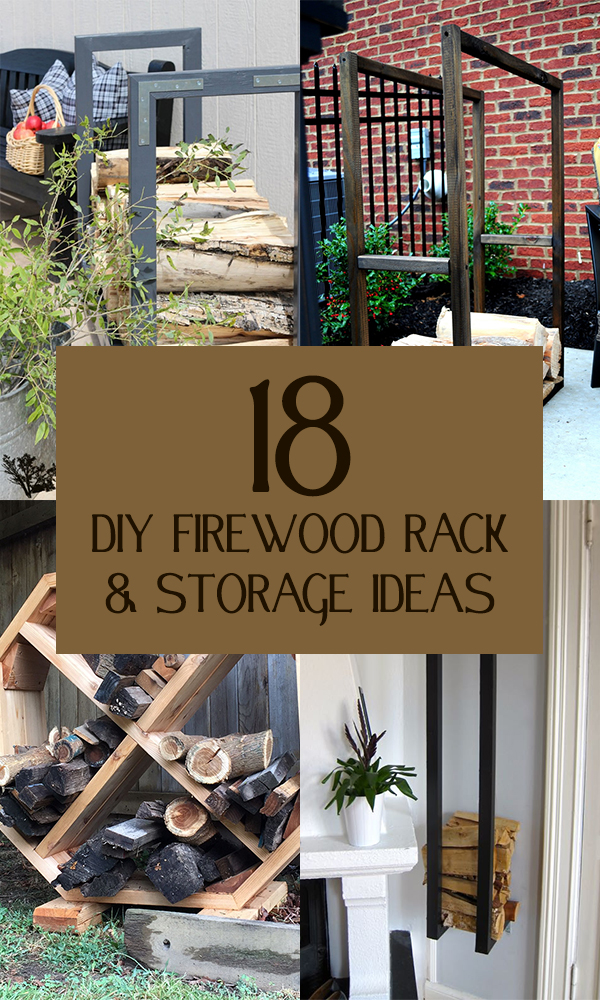18 DIY Firewood Rack & Storage Ideas